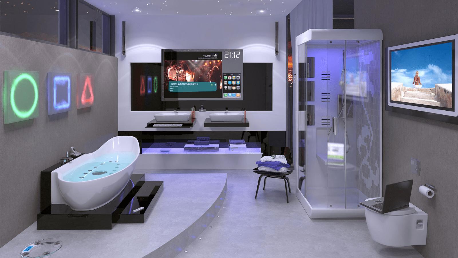 decoração futurista